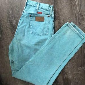 Wrangler • vintage teal high waisted mom jeans